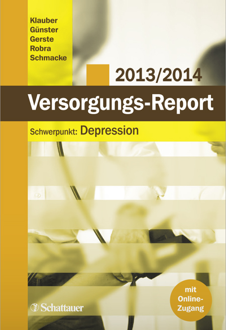Cover der WIdO-Publikation Versorgungs-Report 2013/2014: Depression